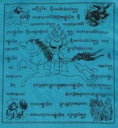 """Las banderas de oración traen en sus extremos 4 animales, que simbolizan determinadas virtudes que se deben desarrollar en el camino de la realización, las que están puestas en 4 direcciones:  arriba a la izquierda el garuda; a su lado el dragón; abajo a la izquierda encontramos el tigre; a su lado el león de las nieves...  myor información en facebook: campaña: """"banderas de oración tibetanas"""""""
