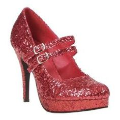@Overstock - This design features two adjustable mary jane style straps. It has a high heel with a platform lift for extra height, and glitter all over.http://www.overstock.com/Clothing-Shoes/Womens-Ellie-Jane-G-421-Red-Glitter/7488207/product.html?CID=214117 $59.95