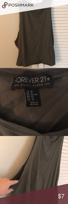 Green forever 21 low cut tank Green forever 21 low cut tank Forever 21 Tops Tank Tops