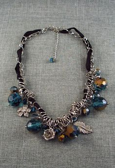 Ice Blue Beaded Necklace