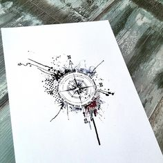 I really like the idea of a quote circling the compass...