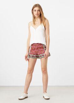 Shorts de Mujer   MANGO España