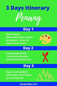 Are you planning a trip to Penang? Although it is a small island, there are lots to explore and lots of food to try! Find out more in this 3 days Penang Itinerary! #penang #penangtravel #penangmalaysia #malaysiatravel #smallisland #foodtotry #penangitinerary #travelasia #exploreasia Budget Travel, Travel Tips, Travel Destinations, Malaysia Travel Guide, Penang Island, Night Book, Small Island, Travel Information, Plan Your Trip