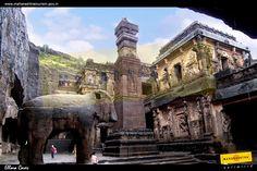 Ellora Caves in Maharashtra, India