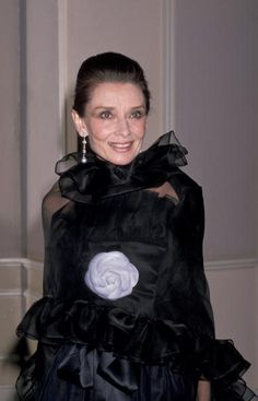 """Audrey Hepburn photo by Ron Galella at """"American Film Institute Salute to Gregory Peck"""" at the Beverly Hilton Hotel , on March 09, 1989."""