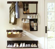 What a great idea for a small space. Gabrielle Entryway Set #potterybarn