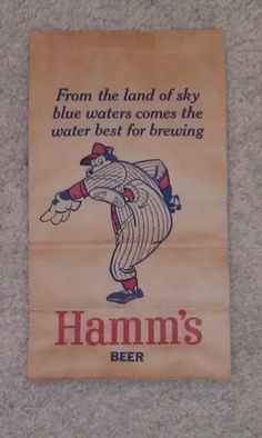 Sky Blue Water Double Sided Hamms Bear Beer Sign on A Bag Check Out The PIX | eBay