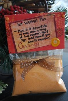 Homemade wassail mix to give to family and friends.