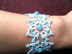Bridal Tatting - Frivolite  Bracelet - Tatted Lace Bracelet by carmentatting on Etsy