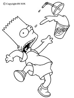 110 Best Coloring Pages The Simpsons Images On Pinterest - Simpsons-coloring-pages
