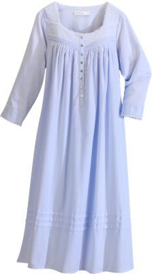 Fairy-Tale Flannel Nightgown by Eileen West .......so comfy, you could sleep for 100 years!