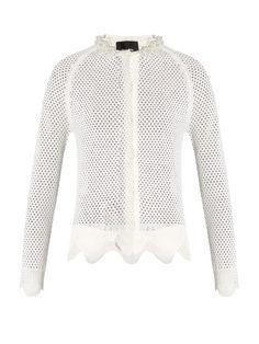 SIMONE ROCHA Merino Wool, Silk And Cashmere-Blend Caridgan. #simonerocha #cloth #caridgan