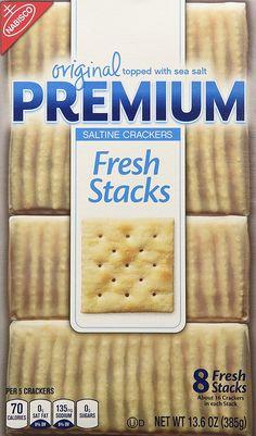 Premium Saltine Crackers, (Original Fresh Stacks, 13.6-Ounce Box, Pack ...