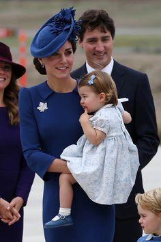 Princess Charlotte pulls some adorable faces as mum Kate holds her up arriving in Canada. • Celebrity WOTNOT --------------- For further information on these stories and images please visit www.celebritywotnot.com. These Images are ©Atlantic Images. No use without permission.