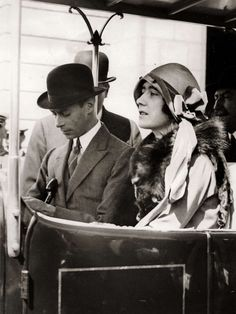 The Duke and Duchess of York (later King George VI and Queen Elizabeth).