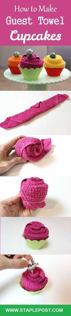 How To Make Guest Towel Cupcakes