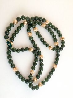 Chinese Jade Necklace  1980s by HouseofPreLoved on Etsy