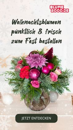 Versende blumige Freude an Deine Liebsten und wähle Deinen Lieblingsstrauß aus unserer aktuellen Weihnachtskollektion. Christmas Flowers, Christmas Mood, Christmas Wreaths, Amaryllis, Holiday Decor, Bouquet, Decoration, Collection, Joy