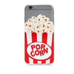 Clear Protective TPU Phone Case Popcorn High Quality UV Print iPhone Samsung