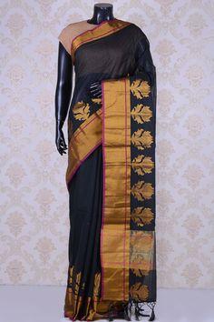 791a1e57028d37 Black grand cotton silk saree-WE201492 - Sarees
