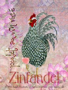 Art print: Pink Zinfandel © 2014 Sarah Hudock, all rights reserved. And registered.