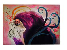 mixed media on paper A3, Mixed Media, Paper, Drawings, Hair Styles, Painting, Beauty, Hair Plait Styles, Hair Makeup