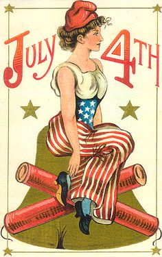 Fourth of July Embossed Lady Liberty Firecrackers Liberty Bell Postcard Happy 4 Of July, Happy Summer, Fourth Of July, Vintage Cards, Vintage Postcards, Vintage Images, Vintage Clip, Vintage Ephemera, Vintage Stuff