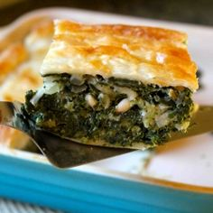 Deep Dish Spinach Pie- makes an amazing #vegetarian meal
