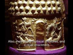 Helmet of Cotofenesti - Mythological Scene on the Side by Radu Oltean - Helmet of Coțofenești - Wikipedia Eye Meaning, Magic Spells, Prehistory, Black Sea, Mythical Creatures, Archaeology, Mythology, Helmet, Decorative Boxes