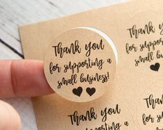 Thank you for supporting a small business- Small Business Packaging - Thank You Labels - Thank You Stickers - 48 Pieces - Inches Thank you for supporting a small business by TaggedWithLoveShop Business Stamps, Business Stickers, Craft Business, Thank You Labels, Thank You Stickers, Thank You Gifts, Business Thank You Notes, Thank You Customers, Gift Wraping
