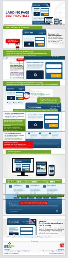 Landing Page Best Practices - Business of #Photography DVP & SYBTL #Infographics