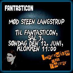 Man kan møde mig til Fantasticon i Valby Kino, søndag den 12. juni, hvis man tør.  http://fantasticon.dk/fantasticon2016/sunday-bloody-sunday/