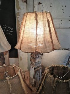Astounding Unique Ideas: Lamp Shades Ceiling Home shabby chic lamp shades french country. Burlap Lampshade, Paper Lampshade, Lace Lamp, Rustic Lamp Shades, Retro Lamp Shades, Cool Ideas, Home And Deco, Upcycled Furniture, Furniture Ideas