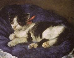 Marsa's-Perser - cats in fine art century Pierre Auguste Renoir, August Renoir, Here Kitty Kitty, Famous Artists, Cool Cats, Cat Art, Altered Art, Creative Art, Painting & Drawing