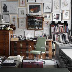 Trendy Home Office Studio Atelier Grey Interior Doors, Home Office Chairs, Office Decor, Trendy Home, Chair Design, Design Design, Design Ideas, Interior Inspiration, Room Decor