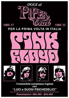 PINK FLOYD - 18 April 1977 Milan Italy Piper Club - live show artistic concert poster - manifesto artistico