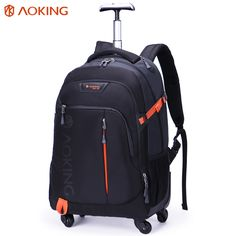 d67f3d29941c Buy Aoking High Quality Waterproof Travel Trolley Backpack Luggage Wheeled  Carry-ons Bags Large Capacity Trolley Bags for Laptop Price  USD