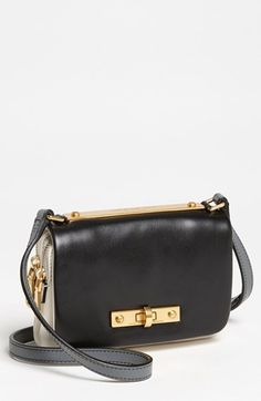 MARC BY MARC JACOBS 'Goodbye Columbus - Mini' Leather Crossbody Bag | Nordstrom Spring Bags, Black Leather Crossbody Bag, Marc Jacobs Bag, Baggage, Bag Accessories, Nordstrom, Purses, Virtual Closet, My Style