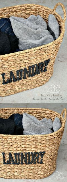 DIY Laundry Basket Tutorial, easy and impressive! Easy Handmade Gifts, Home Decor Baskets, Laundry Room Inspiration, Mattress Cleaning, Cool Diy Projects, Crafty Projects, Basket Weaving, Box, Diy Crafts
