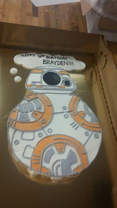BB-8 cupcake cake I made at work for a coworker!