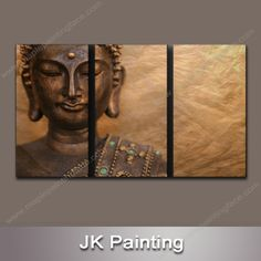 Buddha Wall Decor modern abstract art wall decor- oil painting-buddha 5 pieces