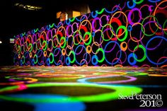 Neon colors make this skating ring an invite to teens.