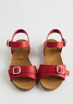 Beaufort Beauty Sandal in Crimson   Mod Retro Vintage Sandals   ModCloth.com