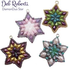 Free Beading Pattern: DiamonDuo Star by Debbie Roberti at Sova-Enterprises.com