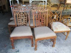 Pair of  Chippendale Pagoda Chairs