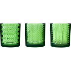 Sagaform Green Mirrored Glass Tea Light Holder