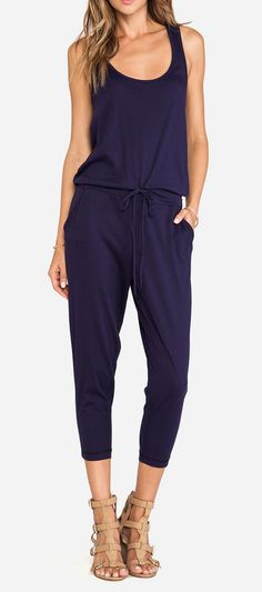 Bobi Supreme Jersey Jumpsuit in Yacht/ could I possibly pull this off with the right shoes and jewelry?? I want!