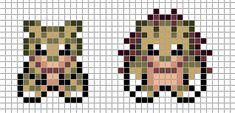 Mini Pokemon by Hama-Girl on DeviantArt Kawaii Cross Stitch, Pokemon Cross Stitch, Mini Cross Stitch, Perler Bead Templates, Perler Patterns, Pokemon Perler Beads, Hama Beads, C2c, Pixel Art