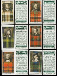 Scottish Clan Tartans - more clan tartans here