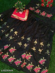 Chitrarekha Ensemble Women Lehenga  Topwear Fabric: Banglori Satin Bottomwear Fabric:Banglori Satin Dupatta Fabric: Net Set type: Lehenga, Choli And Dupatta Top Print or Pattern Type: Embroidered Sizes:  Semi Stitched (Lehenga Waist Size: 46 in, Lehenga Length Size: 46 in,  Lehengha:2.50 mtr, Duppatta Length Size: 2.5 m ,Lehengha Inner::2 mtr Blouse(Choli) :1 mtr) New Lehenga Choli, Size 2, Satin, Stitch, Type, Blouse, Hot, Skirts, Pattern